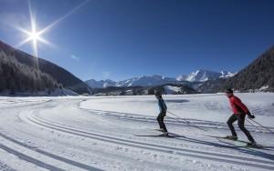 Skilanglauf in Niederthai, Stubaier Alpen, Tirol, Oesterreich.